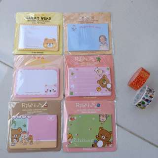Cute Sticky Note and Mini Tape (Selotip) Murah NEW