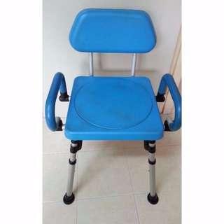 $65- Aluminium Bath & Toileting Aid Chair