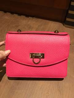 SALVATORE FERAGAMO ORIGINAL PINK SLING BAG