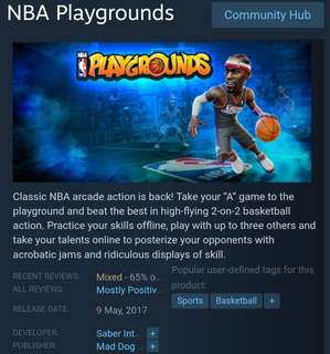 [Clearance Sale] Steam - NBA Playgrounds