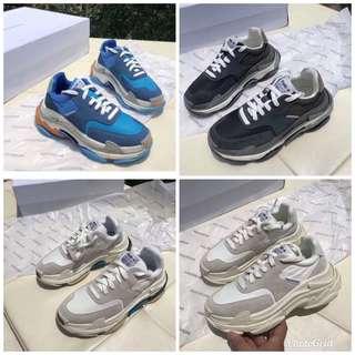 BALENCIAGA TRIPLE-S BB 巴黎世家18AW  二代老爹鞋復古運動球鞋~4️⃣色