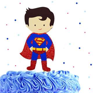🚚 Superman Cake Topper, Custom Birthday Cake Topper