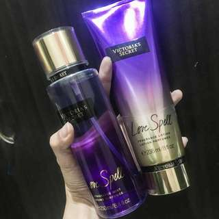 Authentic Victoria's Secret love spell mist and lotion