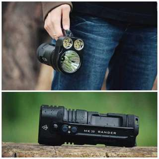 (6,000 Lumens, 1.1KM Beam Distance) Manker MK39 Ranger Flashlight