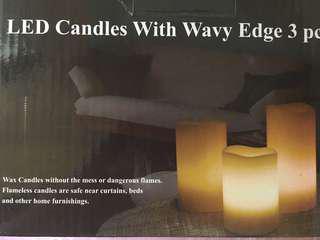 裝飾蠟燭 三支裝