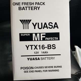 Yuasa Motor battery for sale.