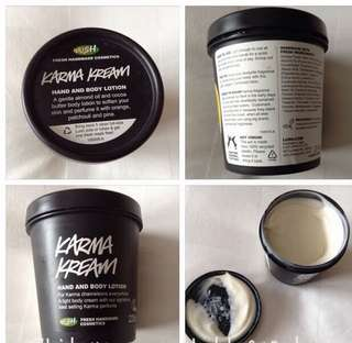 🚚 Lush Karma Kream body lotion 225gms