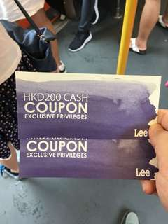 Lee $200 優惠券 $200 dollars cash coupon