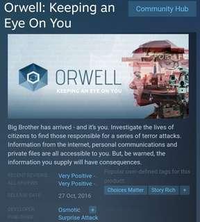 [Clearance Sale] Steam - Orwell: Keeping An Eye On You