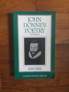 John Donne's Poetry (Norton Critical Editions, 1992)