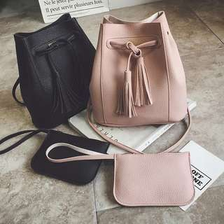 2in1 Bucket Bag (Peach)