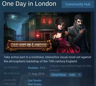 [Clearance Sale] Steam - One Day In London Game