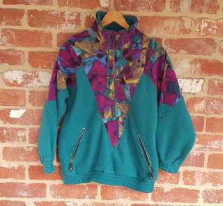 Free Post - Vintage 1990s Windbreaker Flesse S