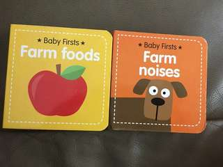 Baby Firsts board books - farm foods farm noises