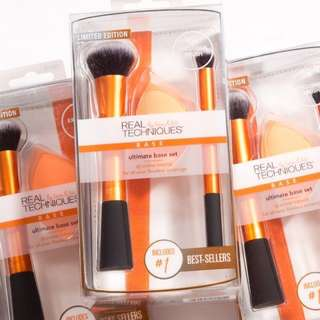 Real Techniques Ultimate Base Set (Expert Face Brush, Concealer Brush, Sponge)