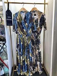 正韓❤️滿版葉子連身裙OPS洋裝🌟