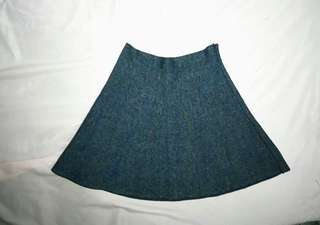Denim-like flare skirt