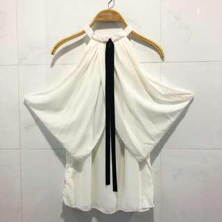 全新女神款露肩白色上衣