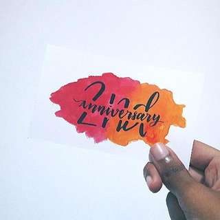 Customizable Calligraphy Watercolour Cards