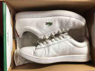 lacoste white shoes (size 5)