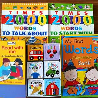 5 for $12: Times 2000 Words To Start With; Times 2000 Words to Talk About; My First Words Colouring Book; First Words - A Pre-Reader; Early Learning - 6 First Word Books for Boys