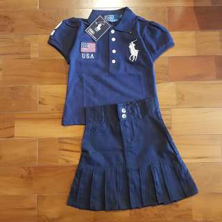 Polo navy set skirt