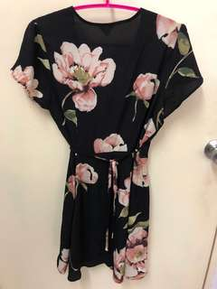 Full Bloom Floral Wrap Dress