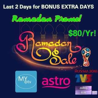 MYIPTV EXTRA DAYS Promo Last 2 Days!