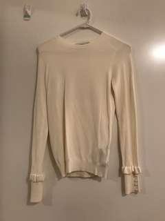 Zara White Knitted Top