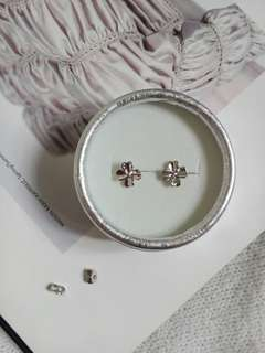 925 Sterling Silver Lucky Clover Leaves