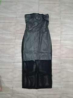 New tube dress black white