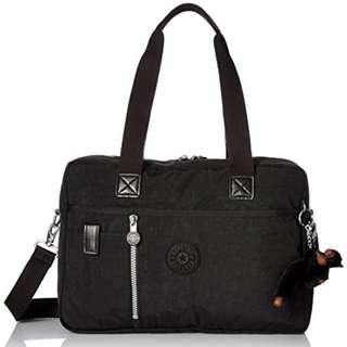 AUTHENTIC kipling women's bag Dustin Medium Satchel shoulder sling crossbody tote Black