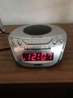 Akira FM/AM Digital Alarm Clock Radio CR-1510M