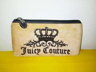 專櫃正品【Juicy Couture】時尚皇冠法蘭絨化妝包/萬用包