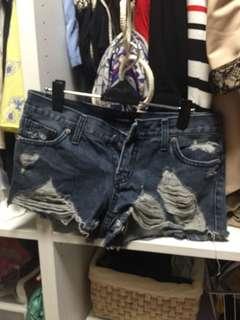 牛仔短褲 S-M