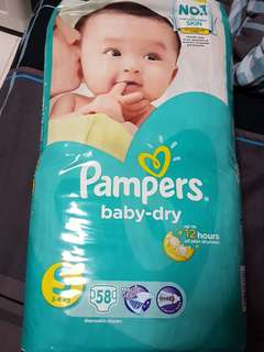 Pampers Baby Dry S 3 to 8kg Taped