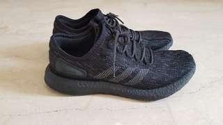 adidas pure boost triple black 45 1/3