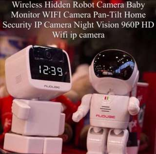 AUDUBE 960P Robot IP Camera WIFI Baby Monitor 1.3MP Wireless CCTV IR Leds Remote Smart Home Monitor