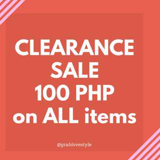 100 PHP on ALL Items