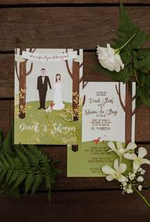 Customised Wedding Invitation Card
