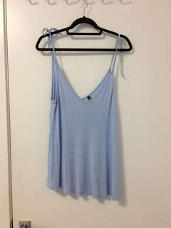Miss Shop baby blue top