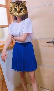 🚚 寶藍色雪紡裙 (下身)