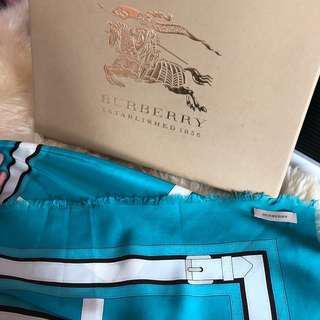 Authentic tifanny blue burberry belt print scarf