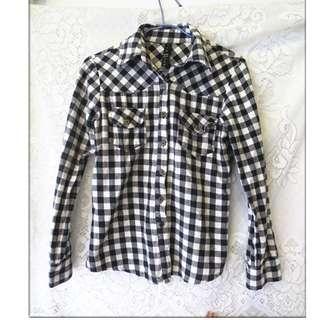 Q*2女生 女孩 上衣 長袖 T恤 休閒長袖 上衣 格子上衣 女孩長袖 格上襯衫 冬天