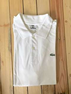Lacoste White Polo