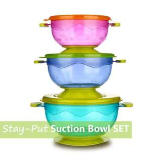 Stay Put Suction Bowl Set