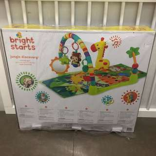 Bright Starts Playmat Activity Gym Jungle Discovery