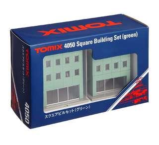 全新 Tomix 4050 綠色方形大廈 火車鐵道模型 情景小物 N比例 1/150 (not Tomytec Kato)