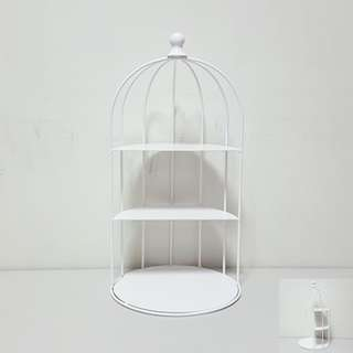 [For Rent] White Bird Cage Cupcake Stand SB006