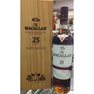 The Macallan 25 Year Old Sherry Oak Whisky (行貨)